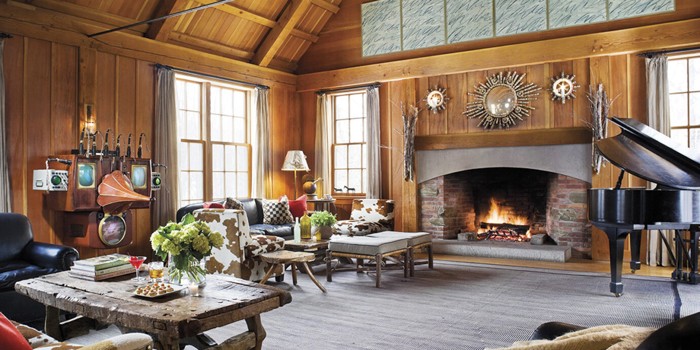 Lounge at Twin Farms in Vermont