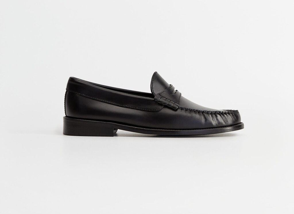 Mango Leather moccasin Loafers