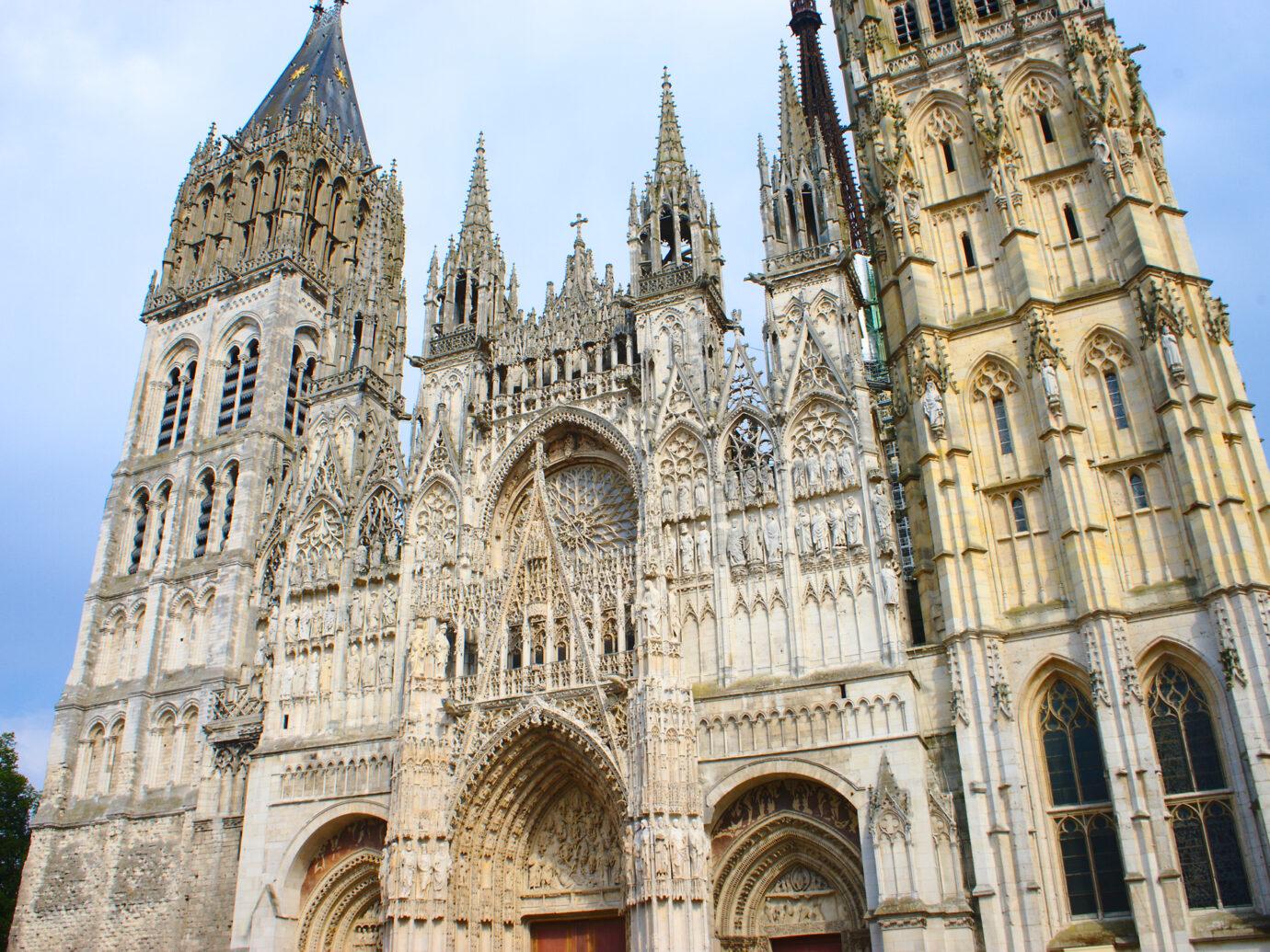 Cathédrale Notre-Dame de Rouen. Façade et tour de beurre.