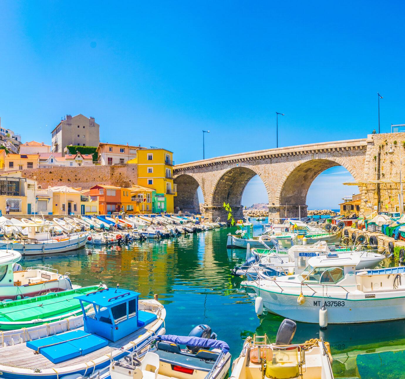 Vallon des Auffes port in Marseille, France