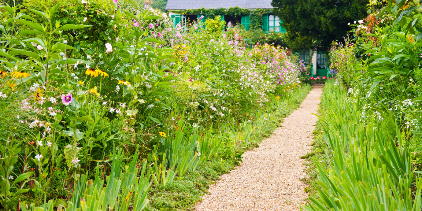 A walkway at Monet's Garden in Giverny, France