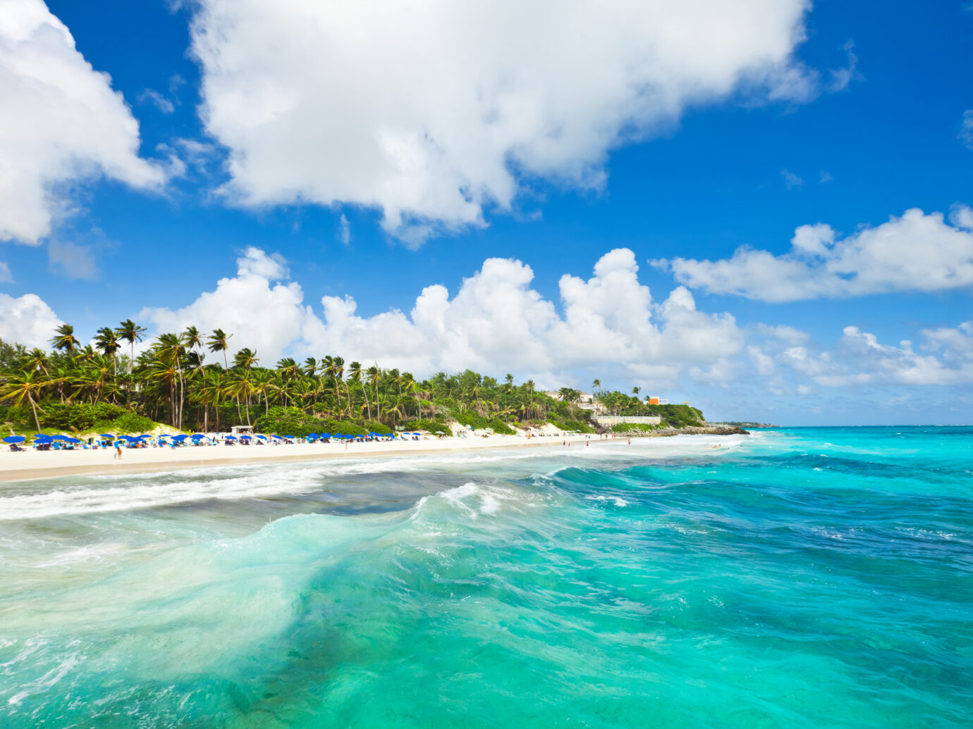The famous and spectacular Crane Beach at the south coast of Barbados.