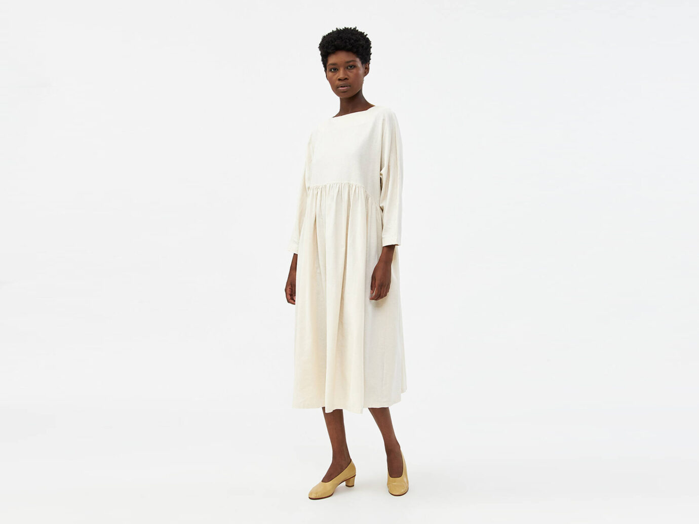 Black Crane Tradi Dress in cream