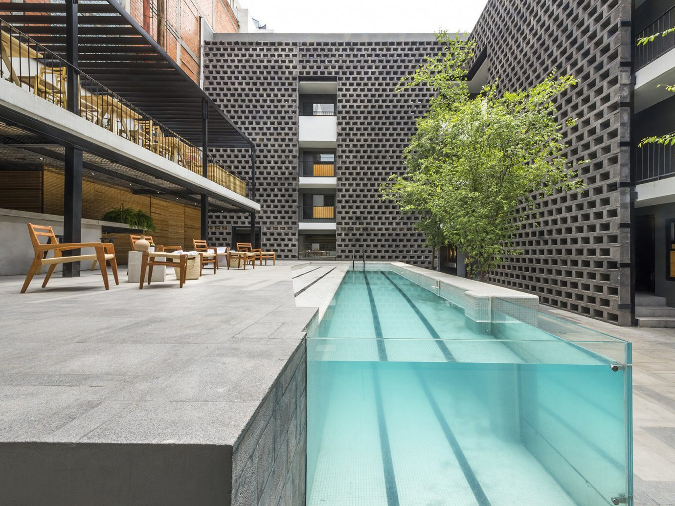 Pool at Hotel Carlota, Mexico City