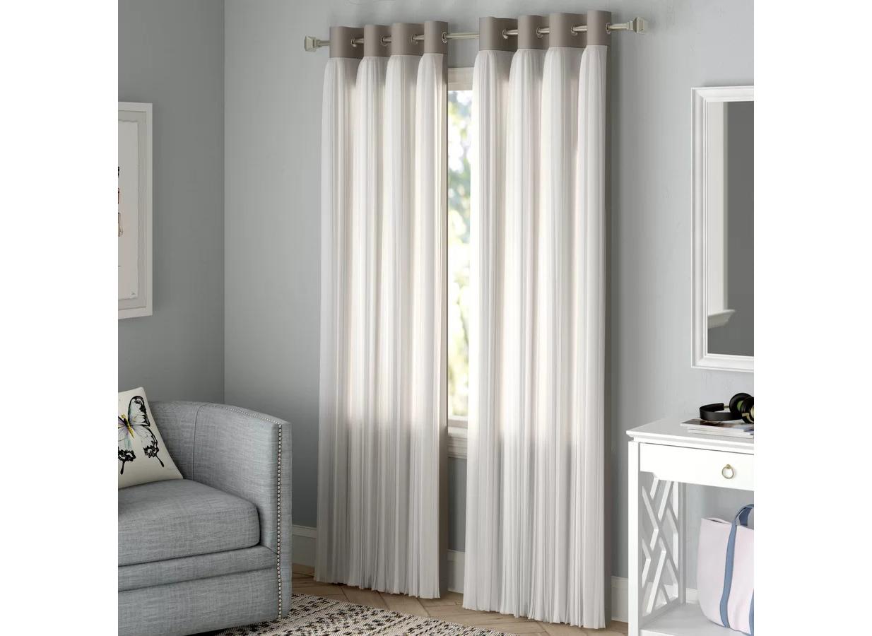 Blackout curtains: Rosdorf Park Brockham Solid Blackout Curtain Panels