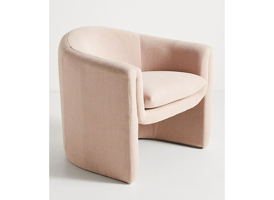 Plush seating: Anthropologie Linen Sculptural Chair