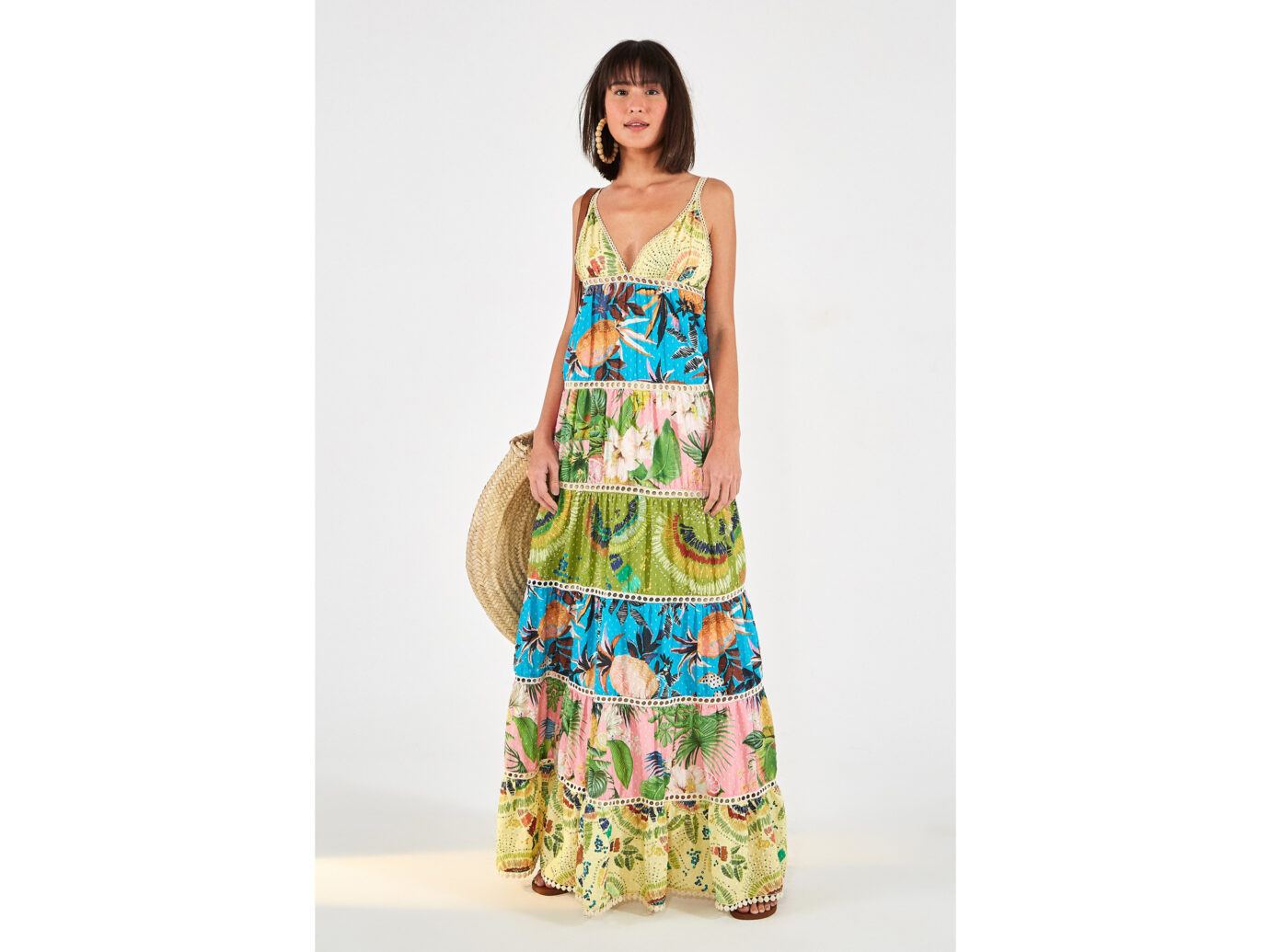 Farm Rio Colorful Birds Maxi Dress