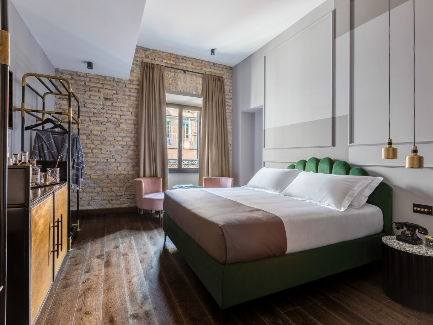 Guest room at Chapter Roma