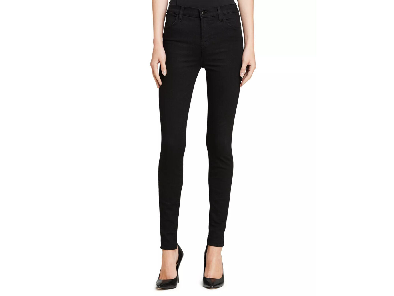 J Brand Maria High-Rise Skinny In Eco Seriously Black
