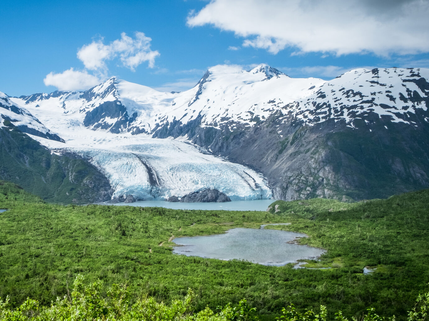 Portage Glacier viewed from Portage Pass