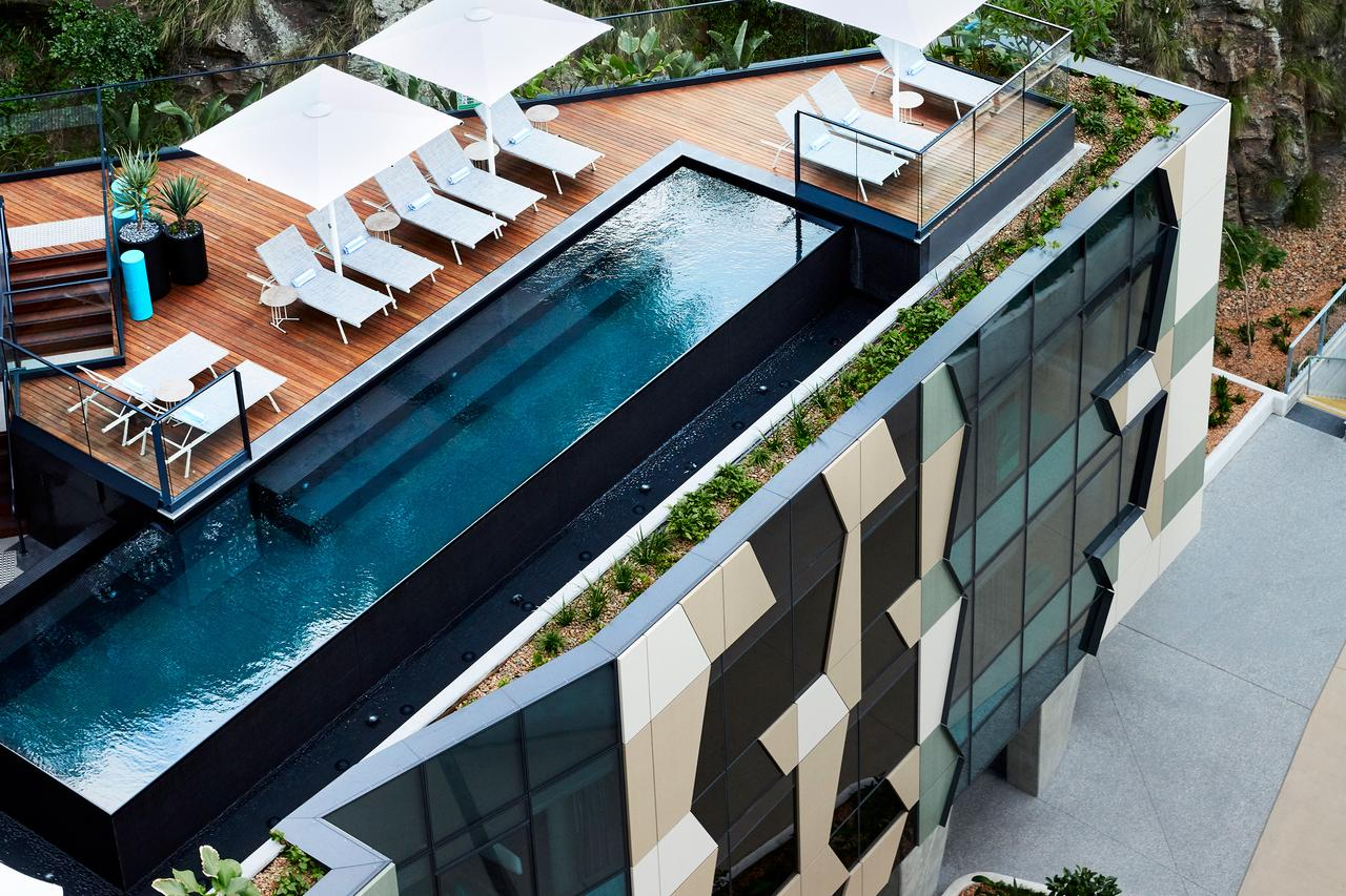 Aerial view of rooftop pool at The Fantauzzo
