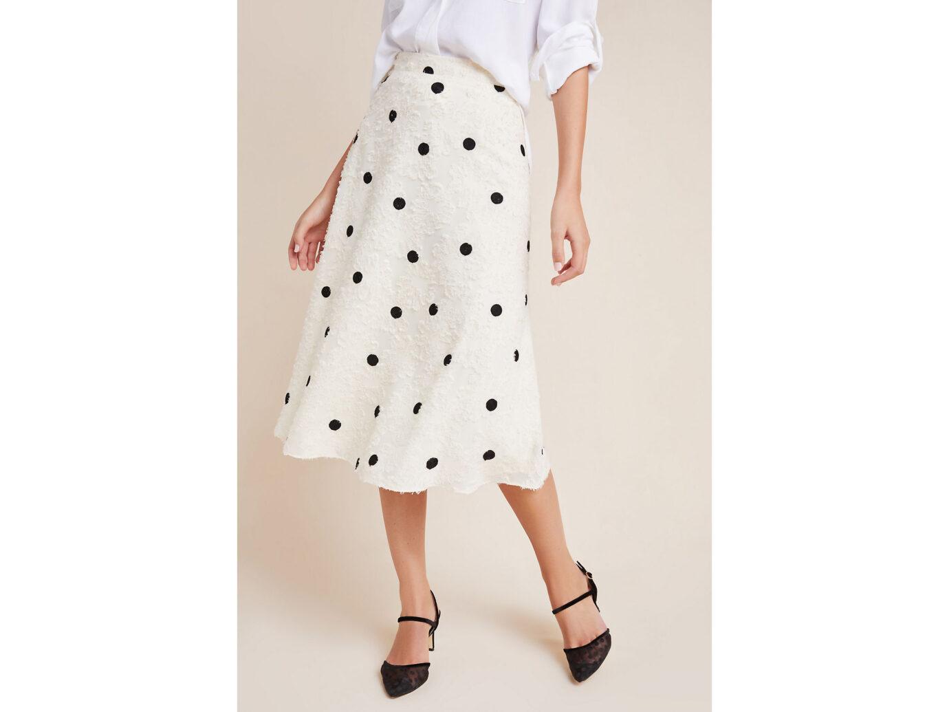 Andrea Textured Midi Skirt