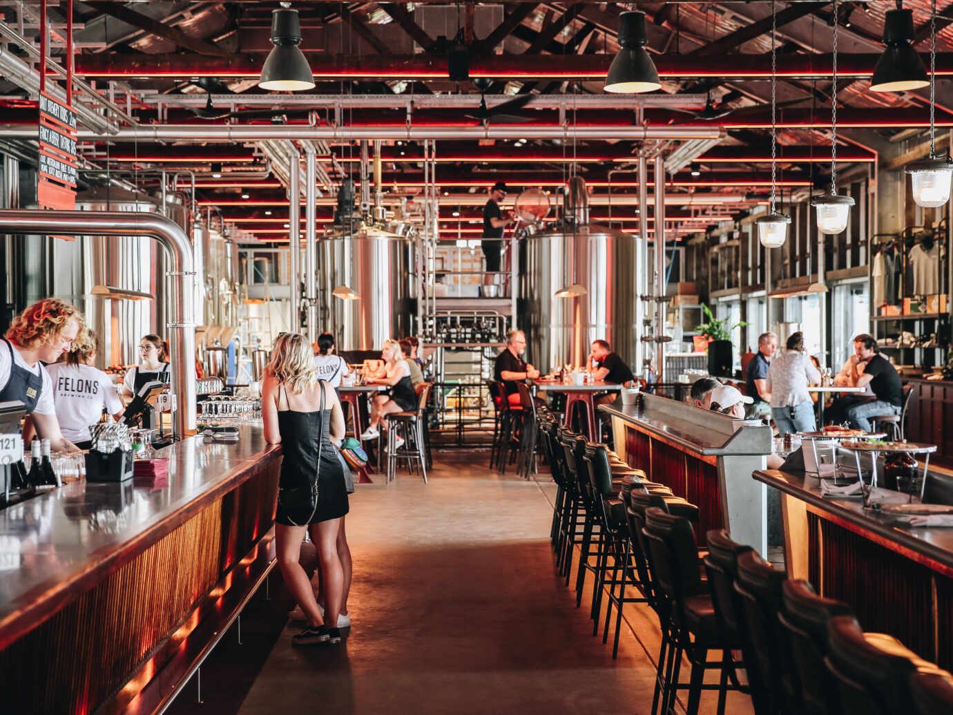 Interior of Felons Brewery in Brisbane Australia