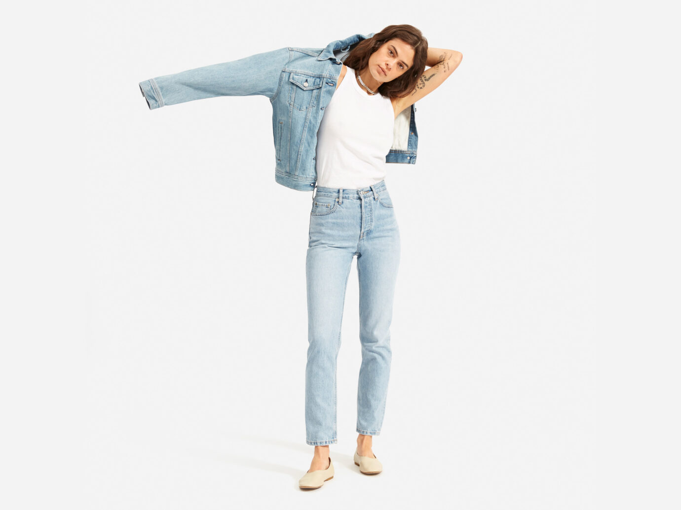 The '90s Cheeky Straight Jean