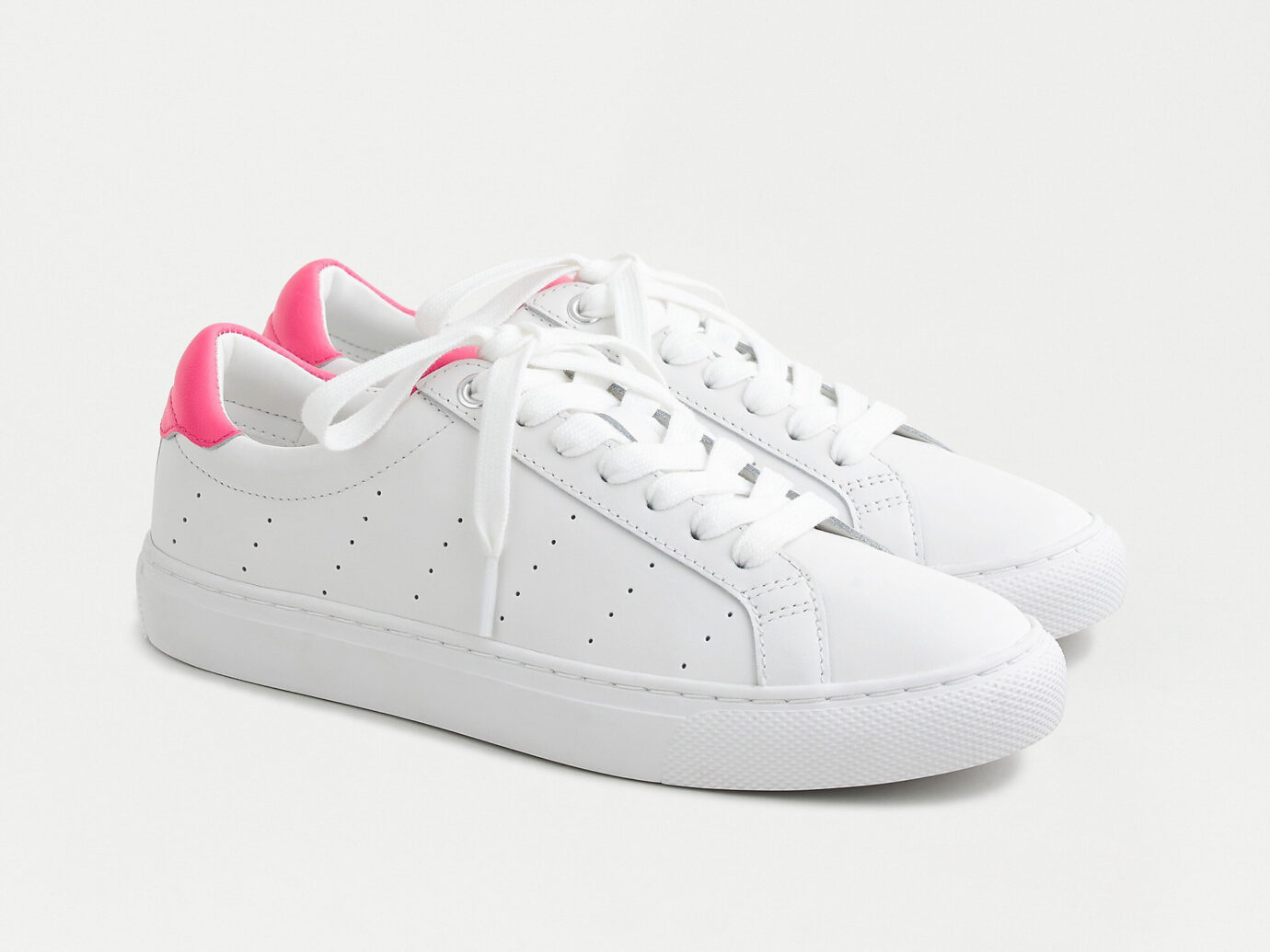 J.Crew Saturday Sneakers with Fuchsia Detail