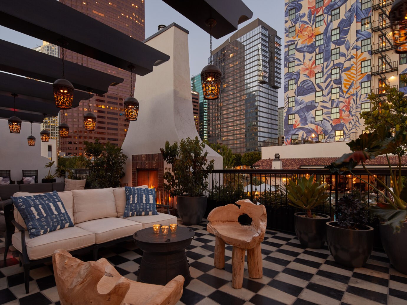 rooftop at Hotel Figueroa