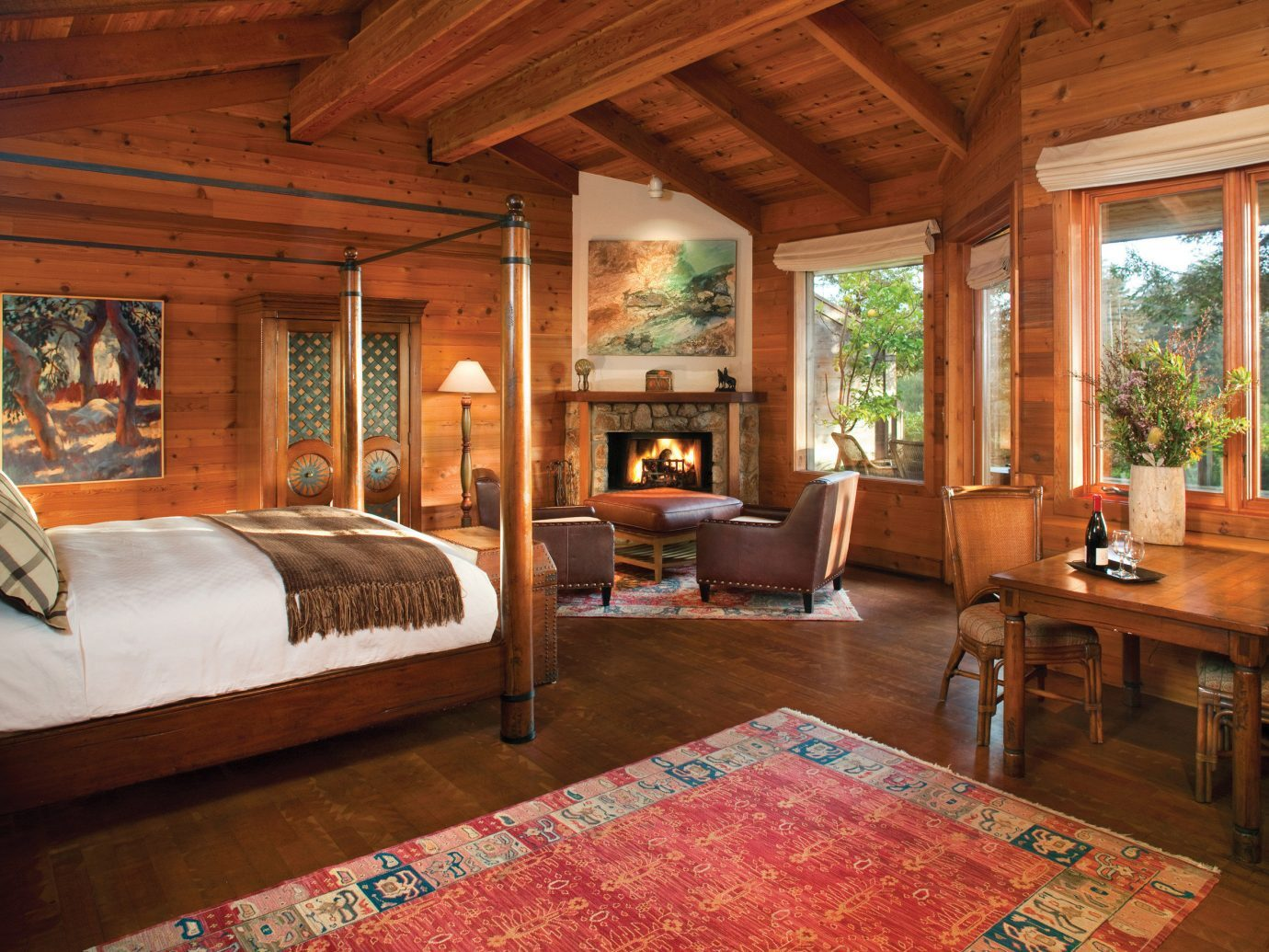 Bedroom at Ventana Big Sur