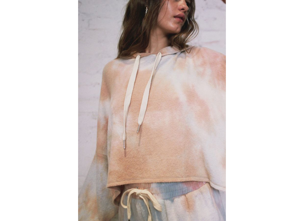 Out From Under Jenny Tie-Dye Cropped Hoodie Sweatshirt