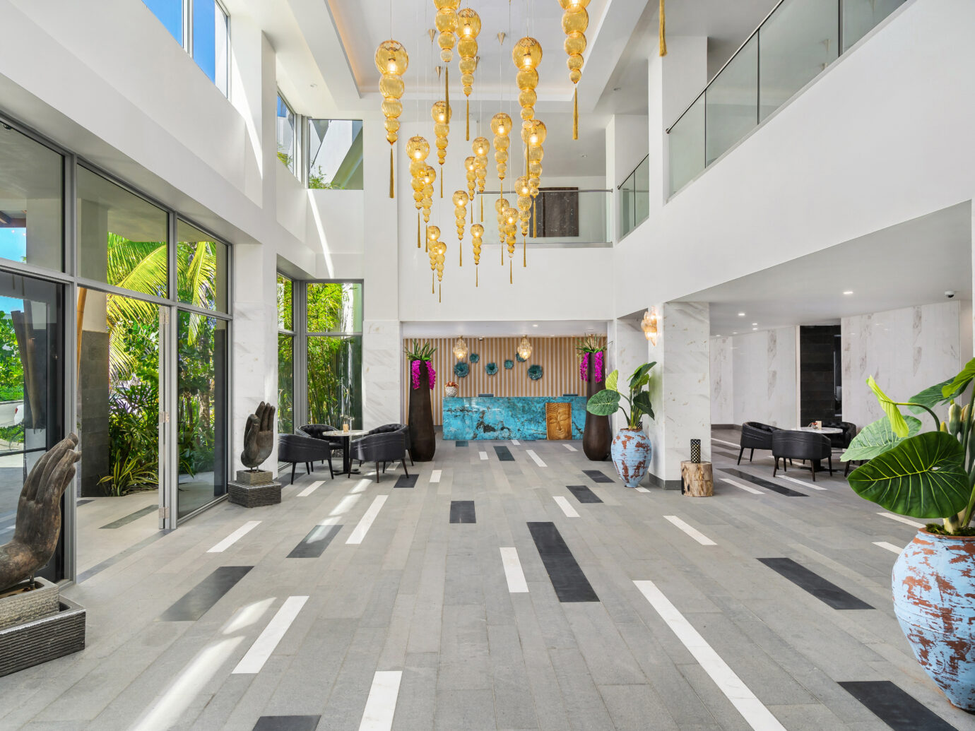 Lobby at Koi Resort St Kitts