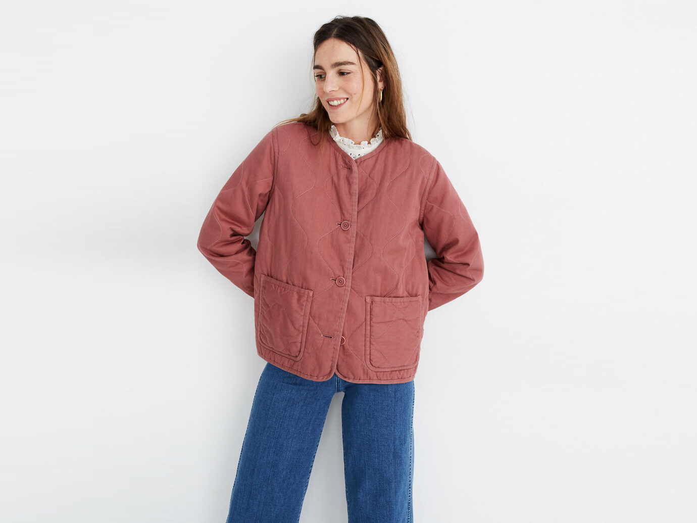 Madewell Cotton Quilted Liner Jacket