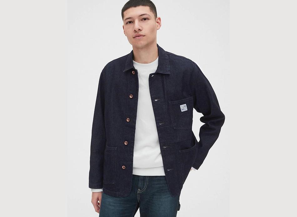 Men's Denim Chore Jacket