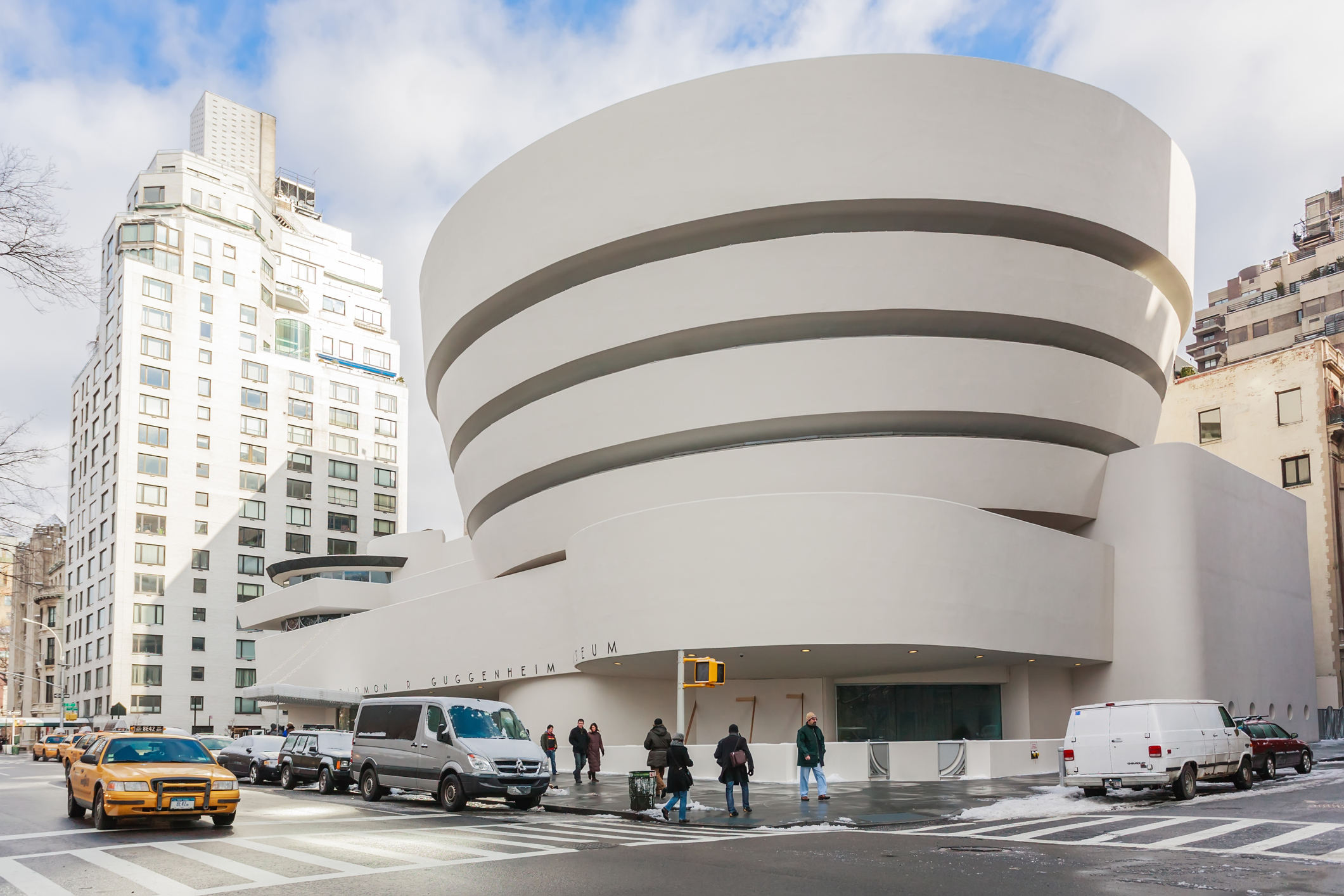 The Solomon R. Guggenheim Museum of modern and contemporary art. Designed by Frank Lloyd Wright