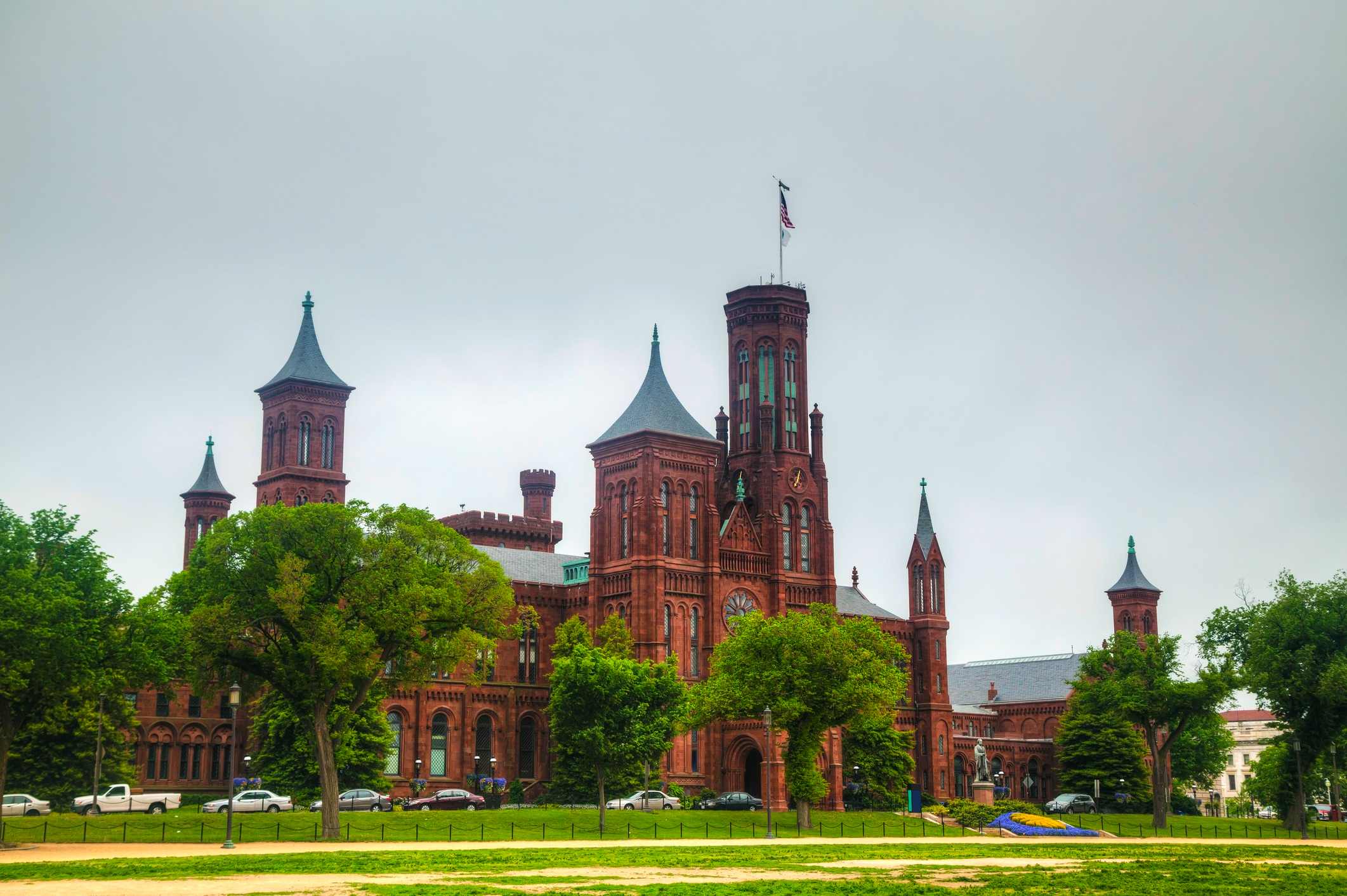 Smithsonian Institution Building (the Castle) in Washington, DC in the morning