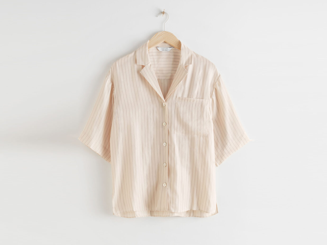 & Other Stories Cupro Blend Relaxed Fit Shirt