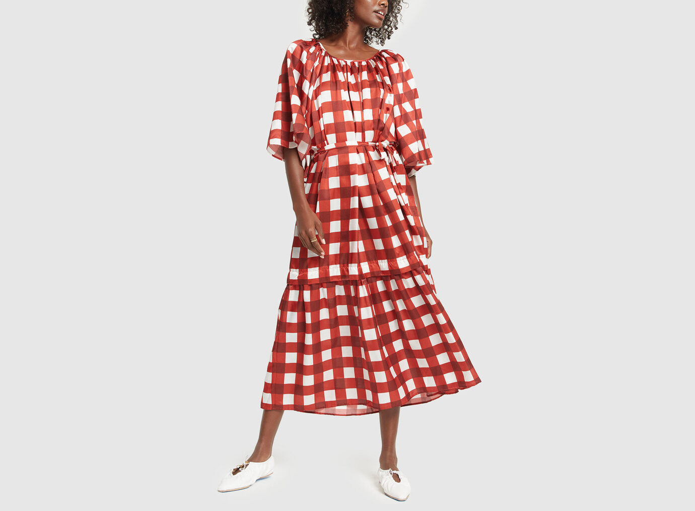 Mother of Pearl Gingham Dress