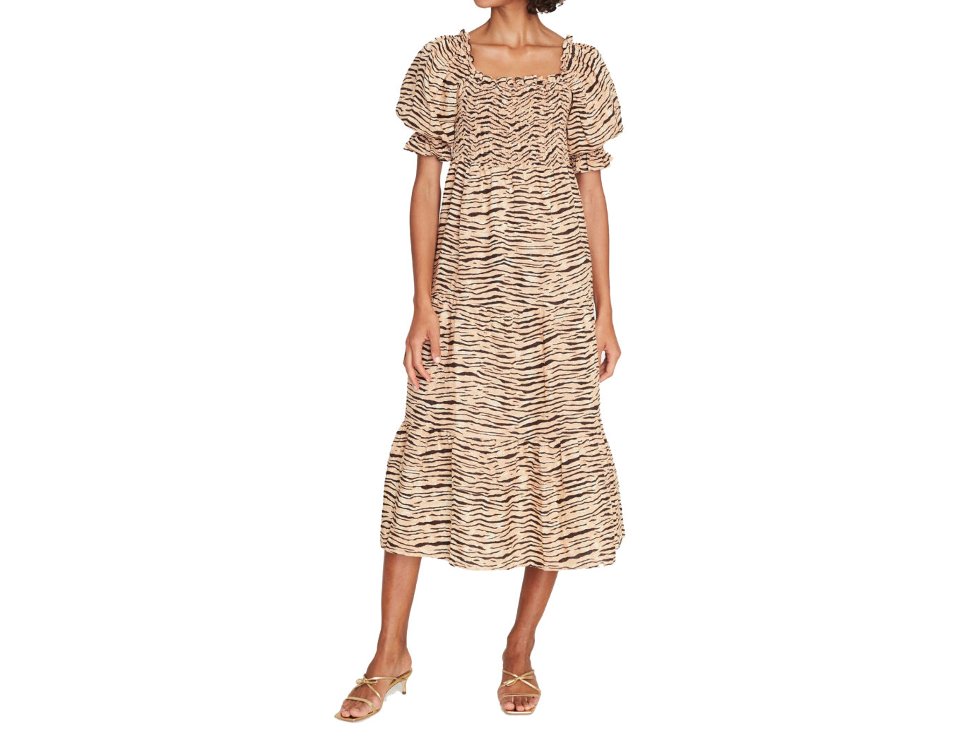 Faithfull The Brand De Christin Tiger Stripe Midi Dress