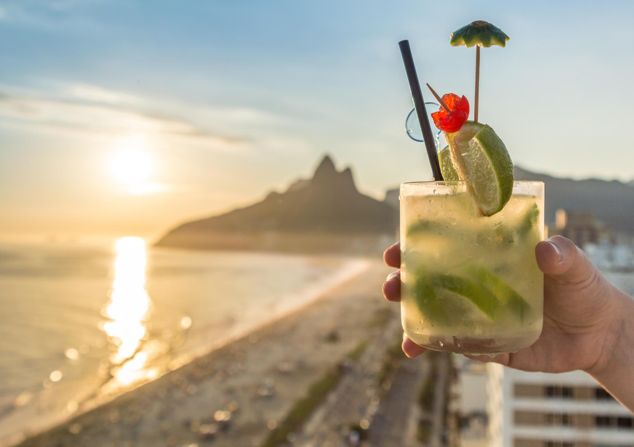 Nothing beats a cold Cocktail on a hot summer's day. Taken on Ipanema Beach, Rio de Janeiro, Brazil