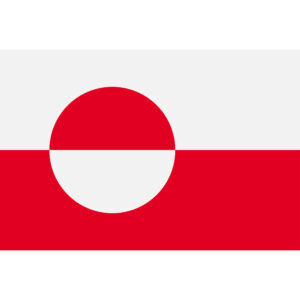 Flag of Greenland. Sovereign state flag of Greenland vector illustration