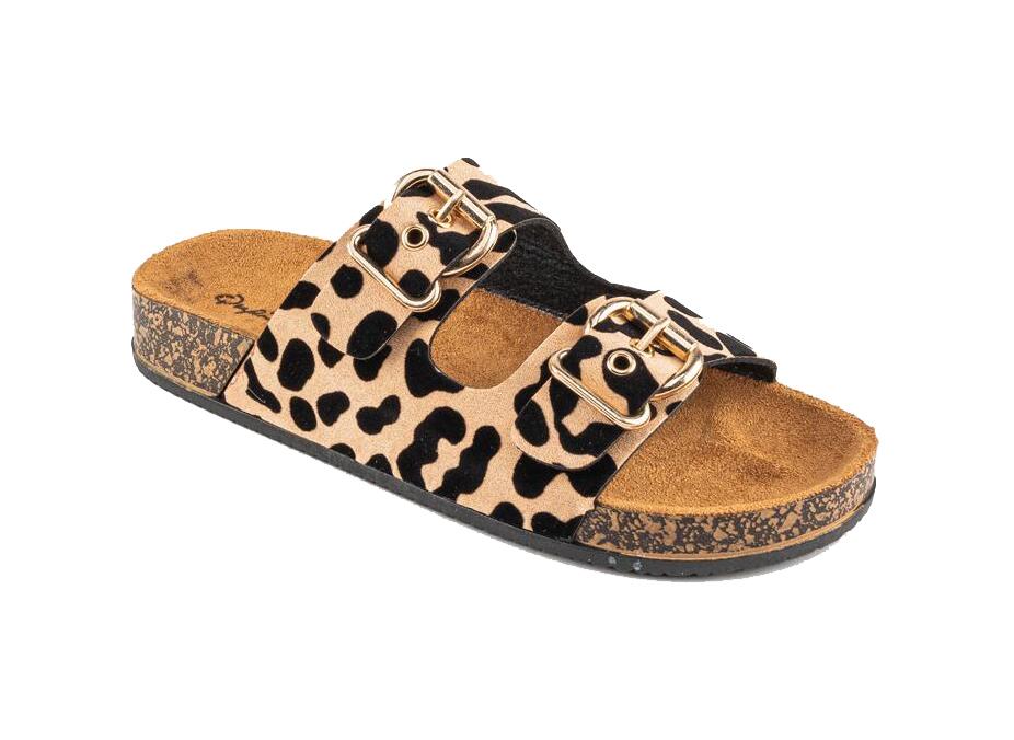 Francesca's Qupid Luka Buckle Footbed Sandal