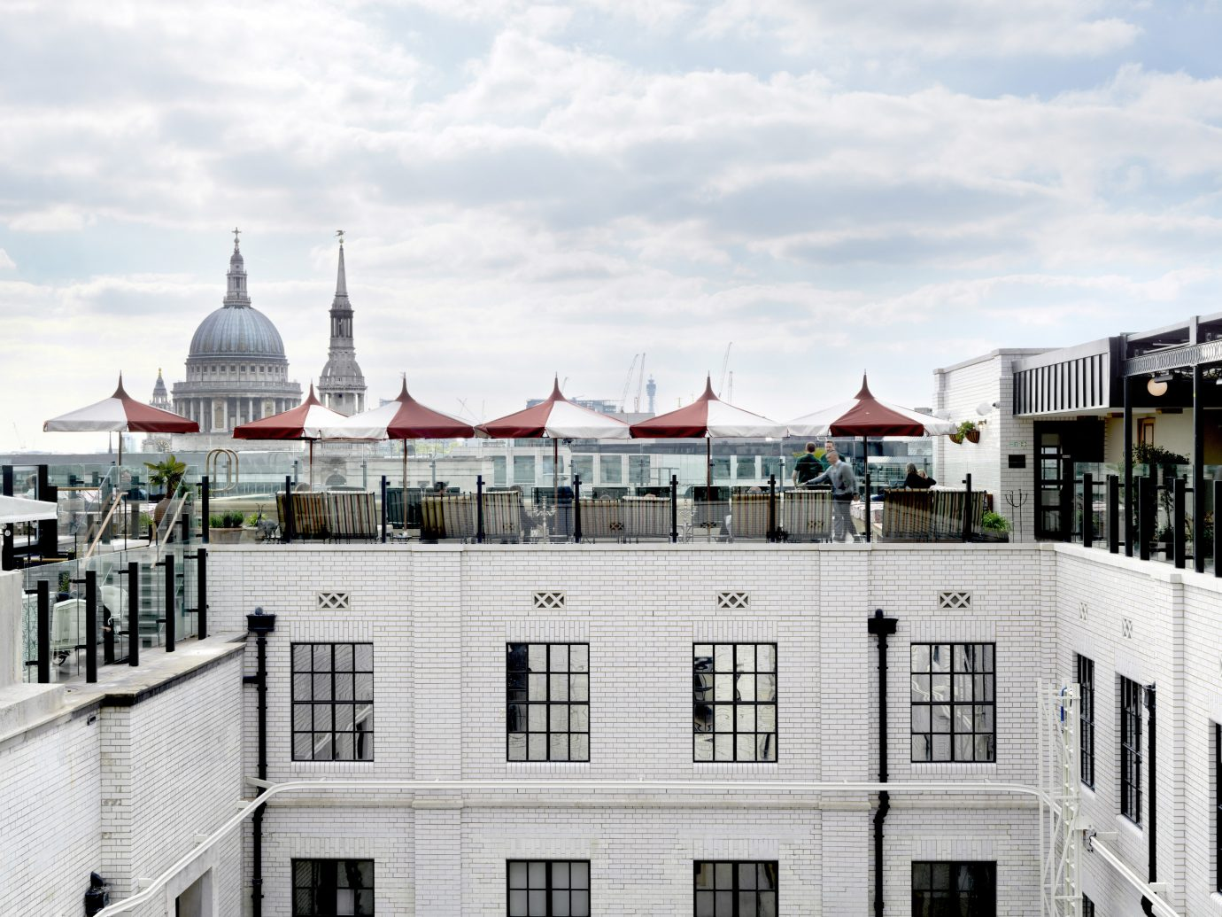 Rooftop patio at The Ned in London