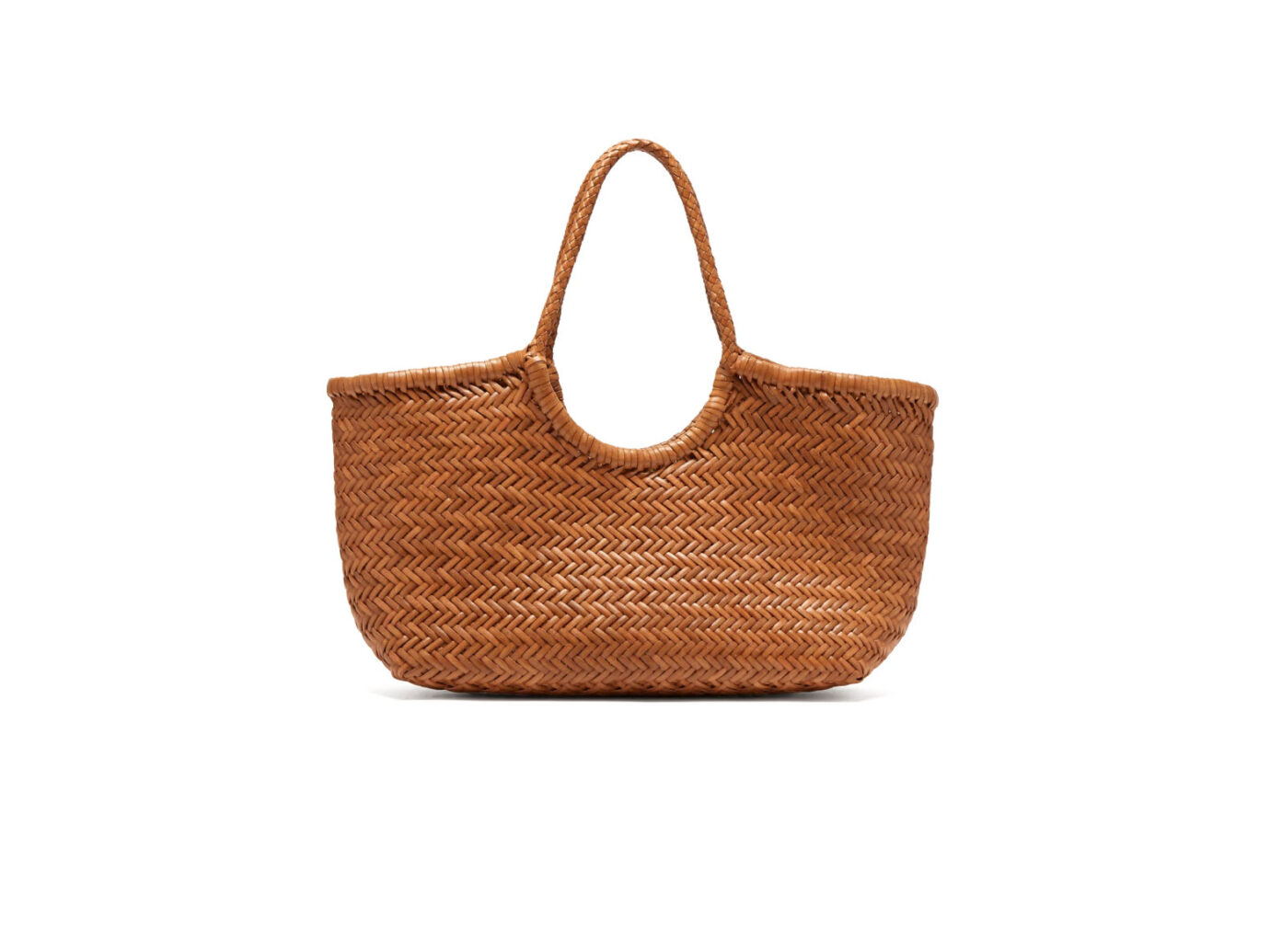 Dragon Diffusion Nantucket woven-leather basket bag