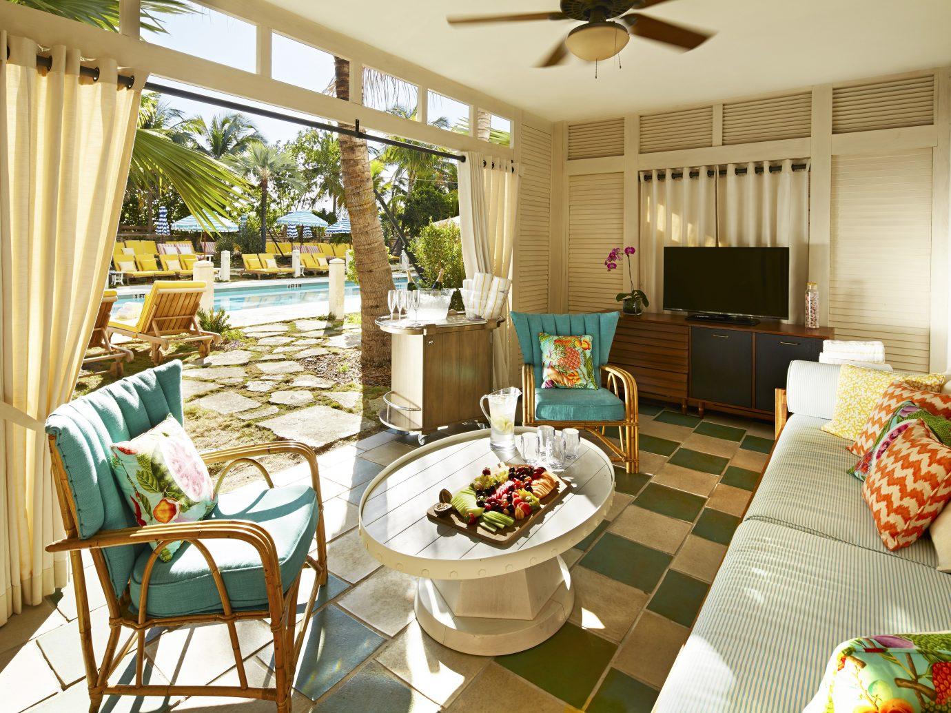 Poolside lounge at the Confidante Miami Beach