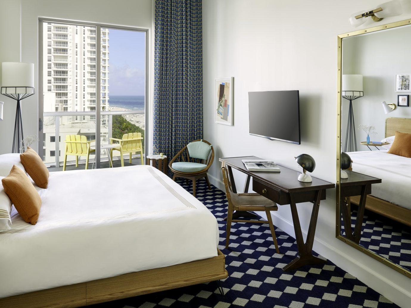 Bedroom at Confidante Miami Beach