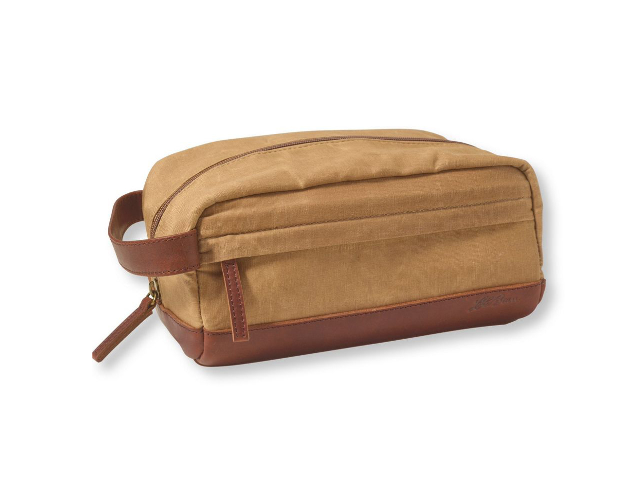 LL Bean Heritage Waxed-Canvas Toiletry Kit