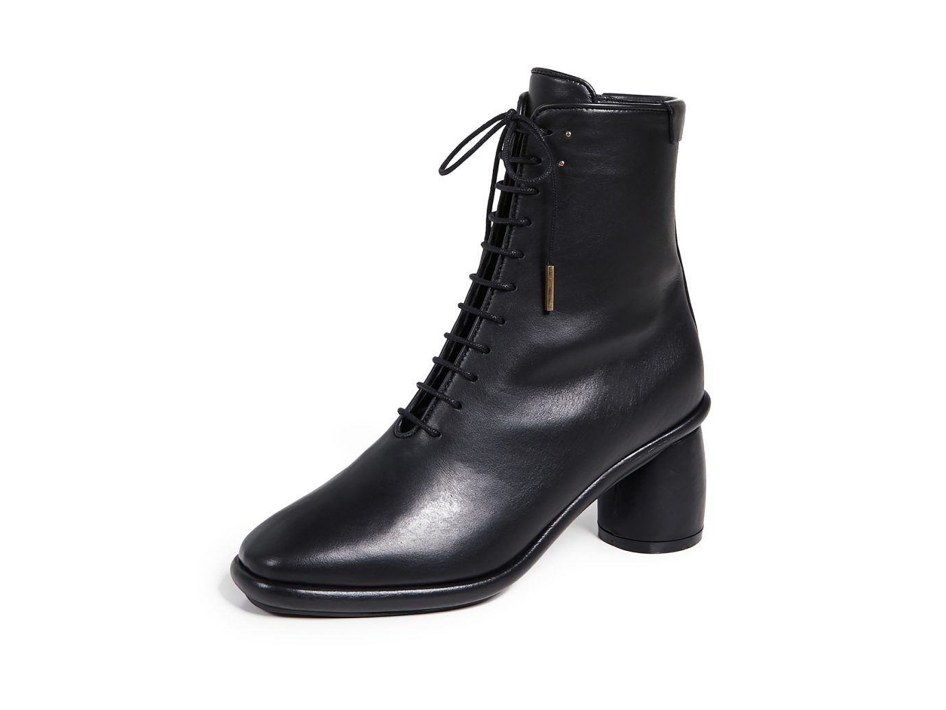 Reike Nen Plain Middle Lace-up Boot