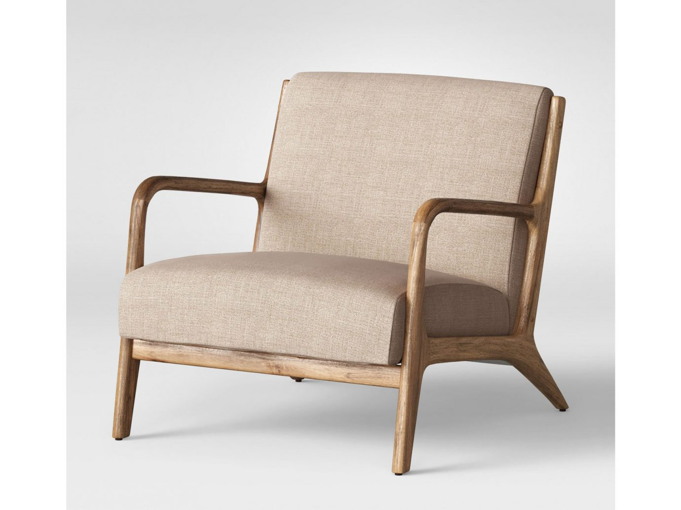 Esters Wood Arm Chair, mid century accent chair from target