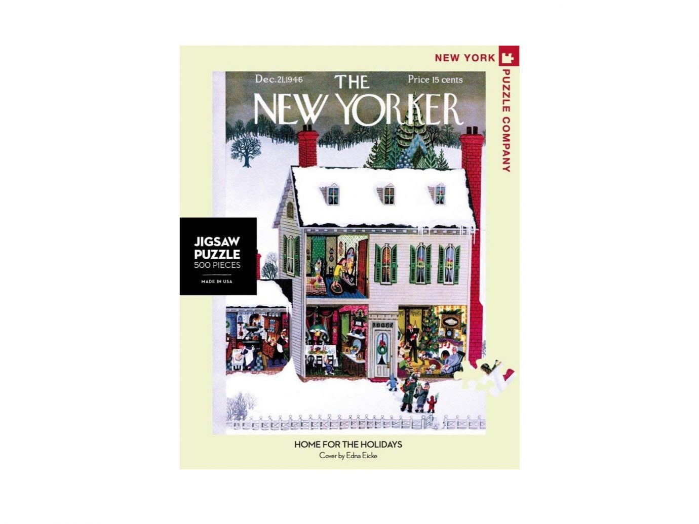 New Yorker Home for the Holidays 500-Piece Jigsaw Puzzle