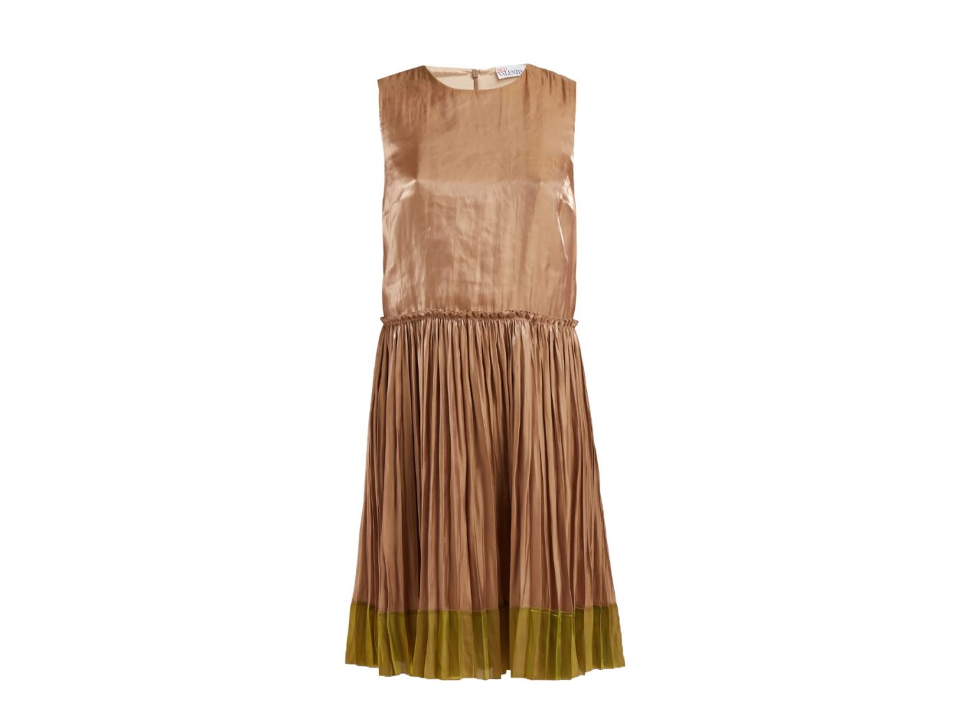 RedValentino Metallic pleated dress