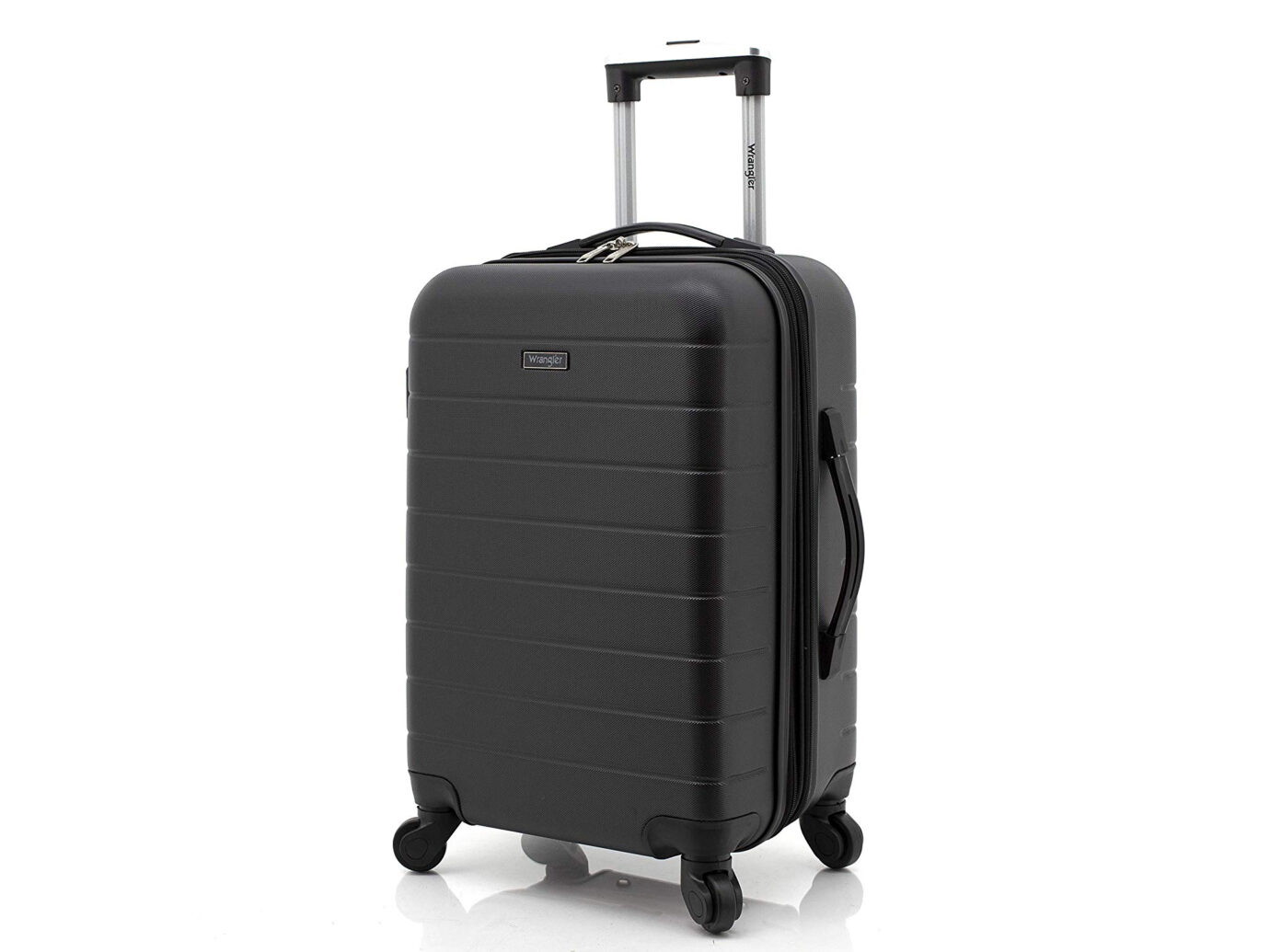 Wrangler 20-Inch Smart Spinner Carry-On Luggage