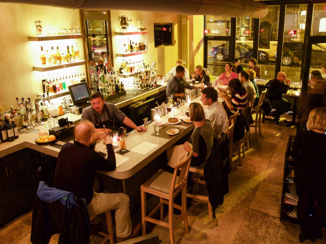 Food + Drink Phildelphia indoor floor person restaurant tavern Bar Drink café pub food table
