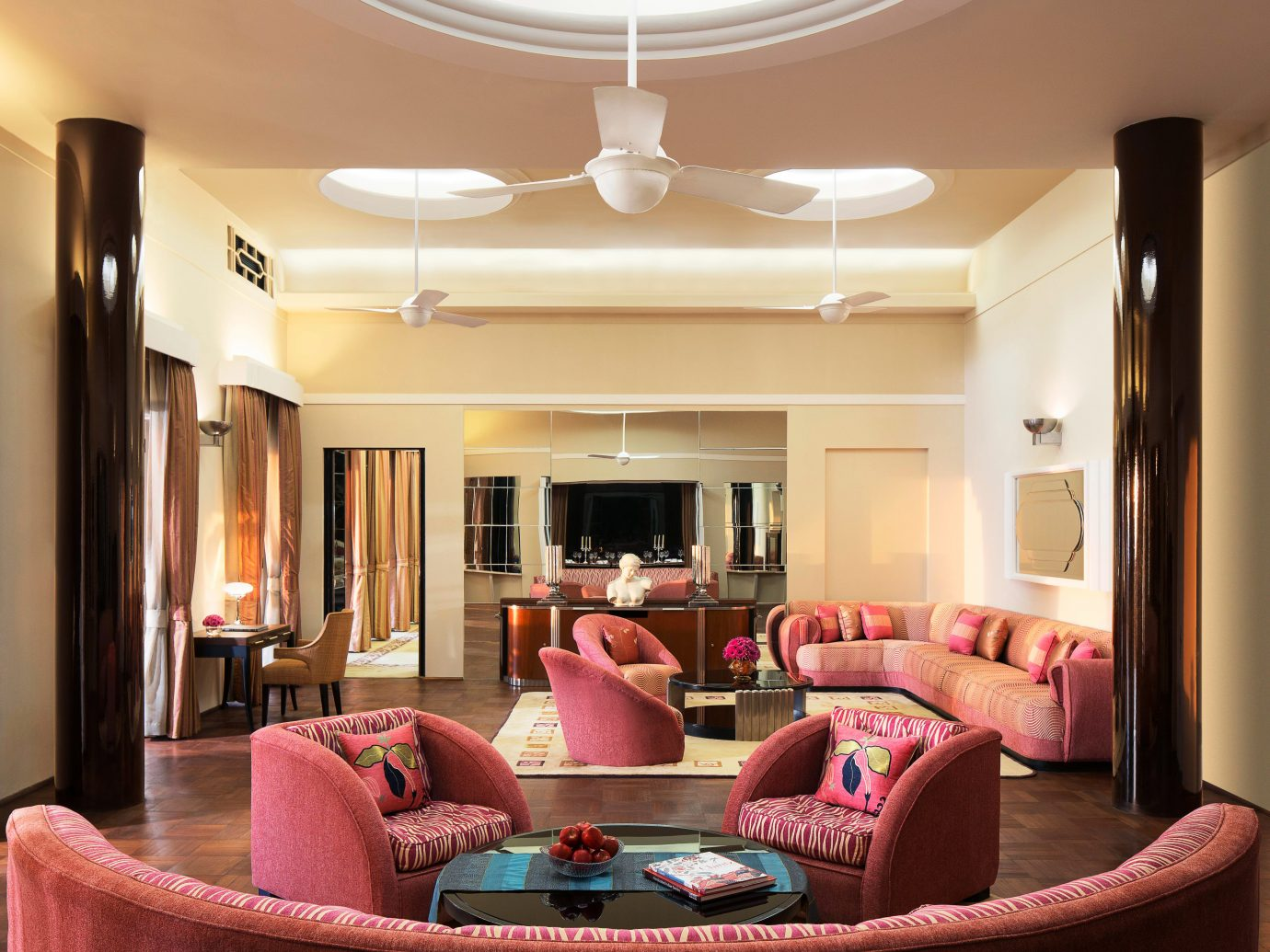 Elegant Hotels Lounge Luxury Resort indoor wall ceiling living room room property home interior design estate Suite dining room real estate furniture