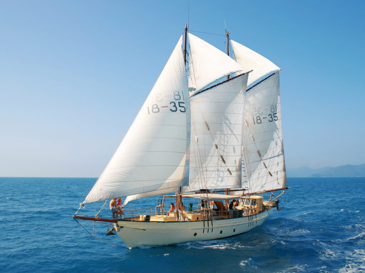 Offbeat sky water watercraft transport outdoor Boat sailing vessel sailing ship vehicle sail sailboat ship sailing barquentine tall ship dinghy sailing schooner blue brigantine yacht Sea sailboat racing galway hooker keelboat windjammer brig yacht racing lugger mast