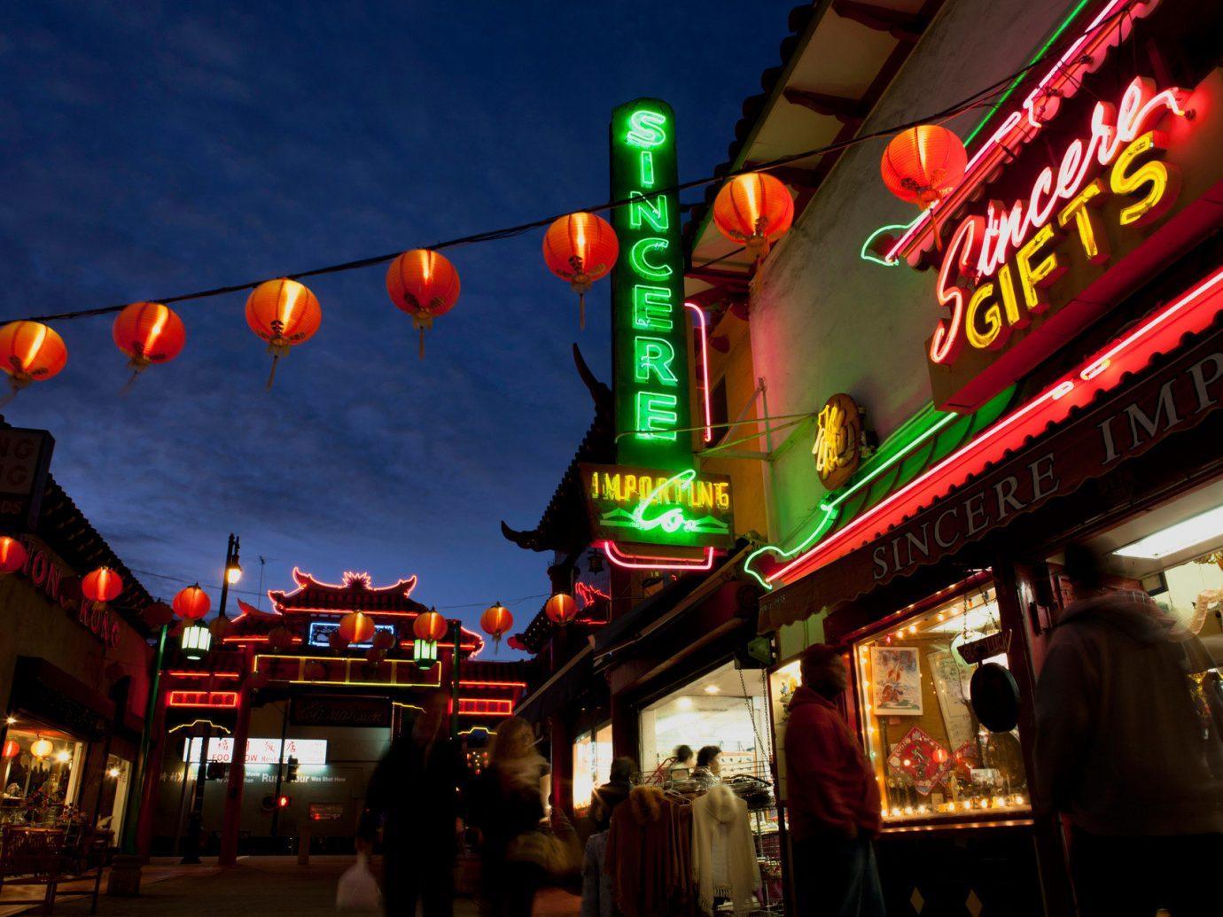 Trip Ideas outdoor night road amusement park street Christmas store