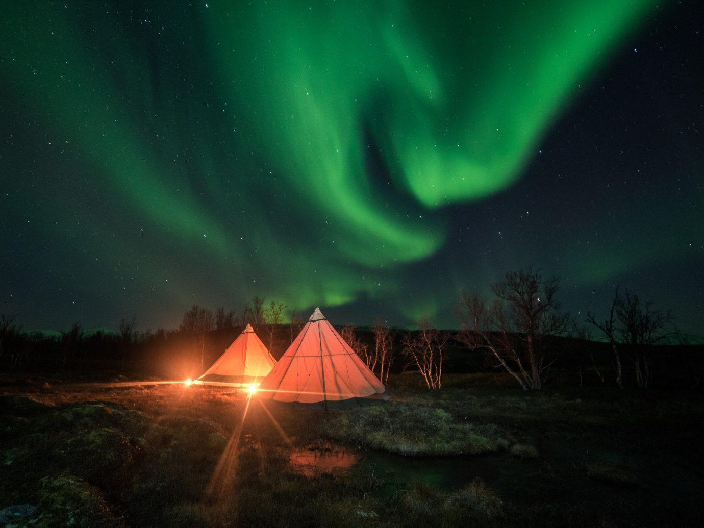 Luxury Travel Trip Ideas outdoor aurora atmosphere Night Sky