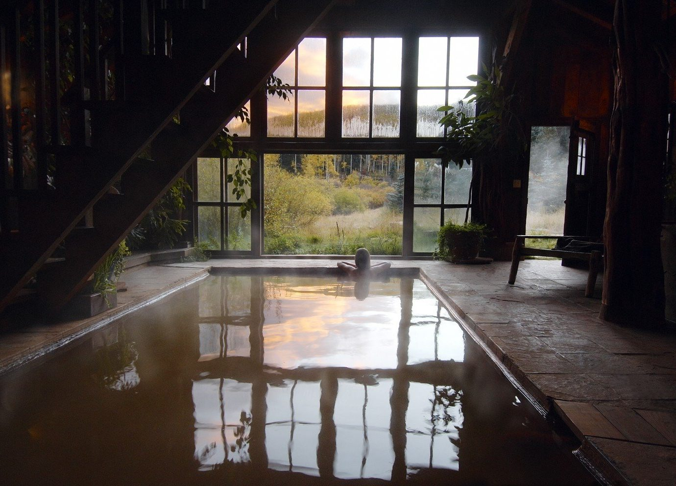 Hotels floor indoor house estate home backyard Courtyard sunlight reflection outdoor structure