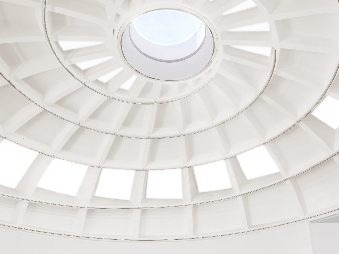 Trip Ideas ceiling white building structure dome Architecture daylighting spiral floor lighting circle symmetry Design stadium